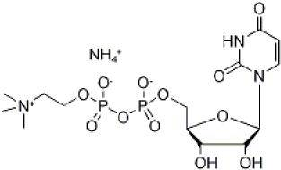 Structure of Uridine diphosphate Choline sodium salt