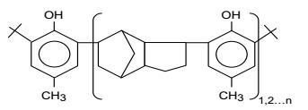 Structure of Poly(dicyclopentadiene-co-p-cresol) CAS 68610-51-5