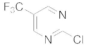 Structure of 2-Chloro-5-(trifluoromethyl)pyrimidine CAS 69034-12-4
